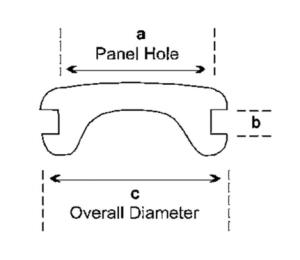 12.5 mm Blind Grommet - COMPONETES DE HULE